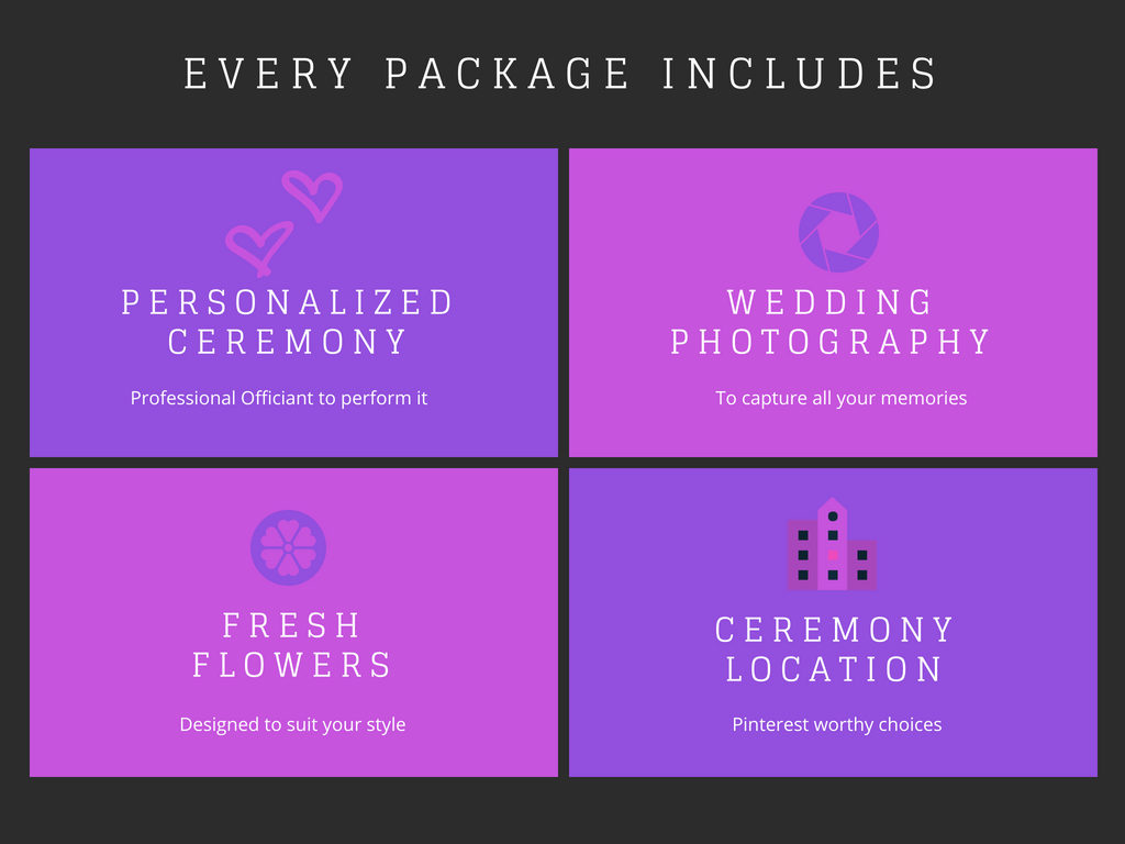 elope in michigan package highlight