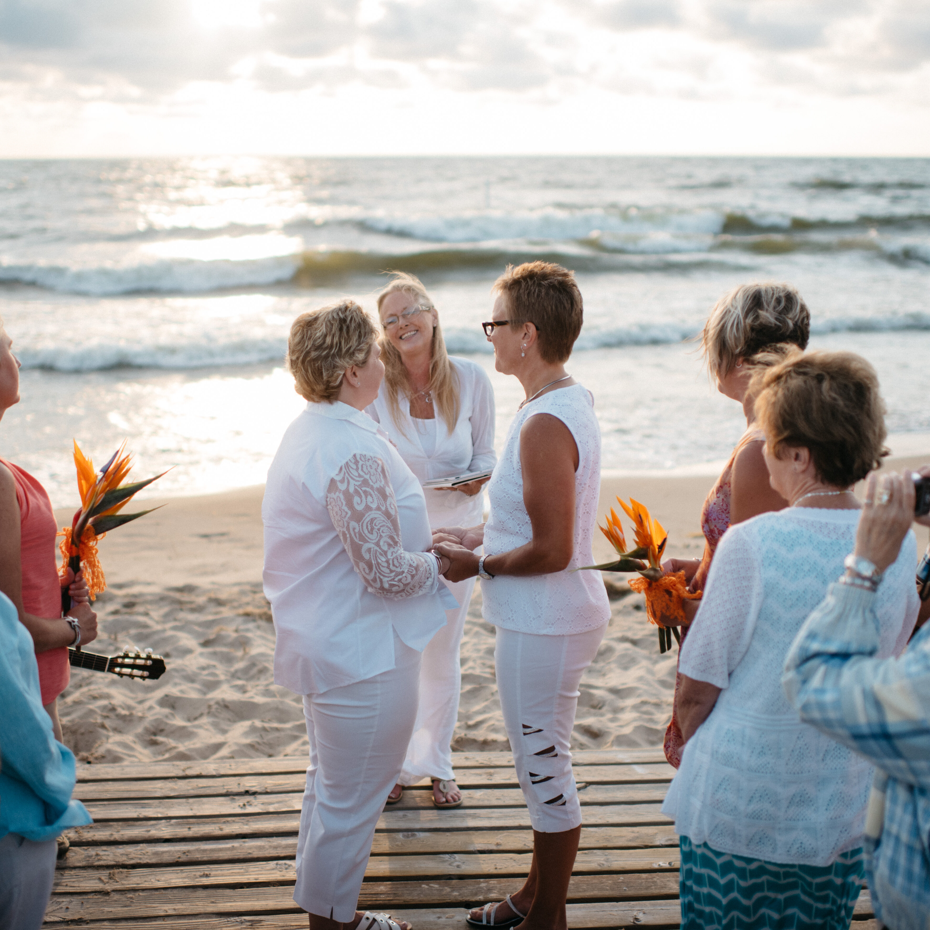 rainbow weddings on the beach